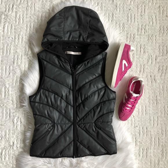 2d32da5d4c3b blanc noir Jackets & Blazers - Blanc Noir Mesh Inset Down Puffer Vest  Reflective